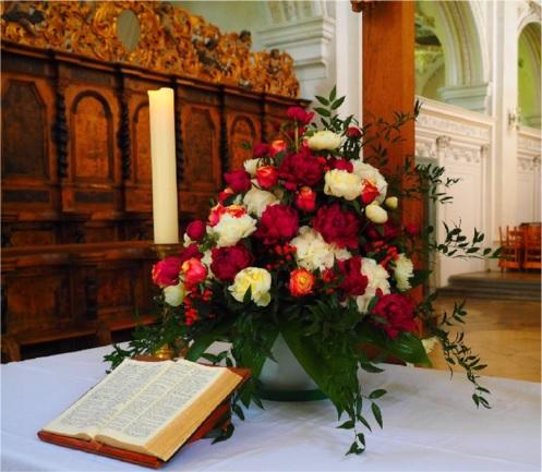 Blumenschmuck Hochzeitsaltar Und Standesamt