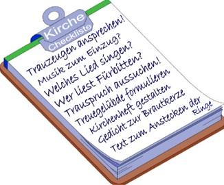 Katholische trauung checkliste